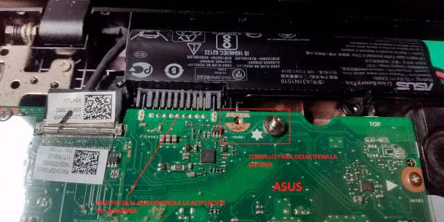 Portátil Asus con batería interna